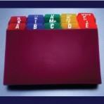 A-Z Tab Poly Card Guide (XLF-010)